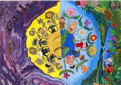 儿童画的环保图画哪有
