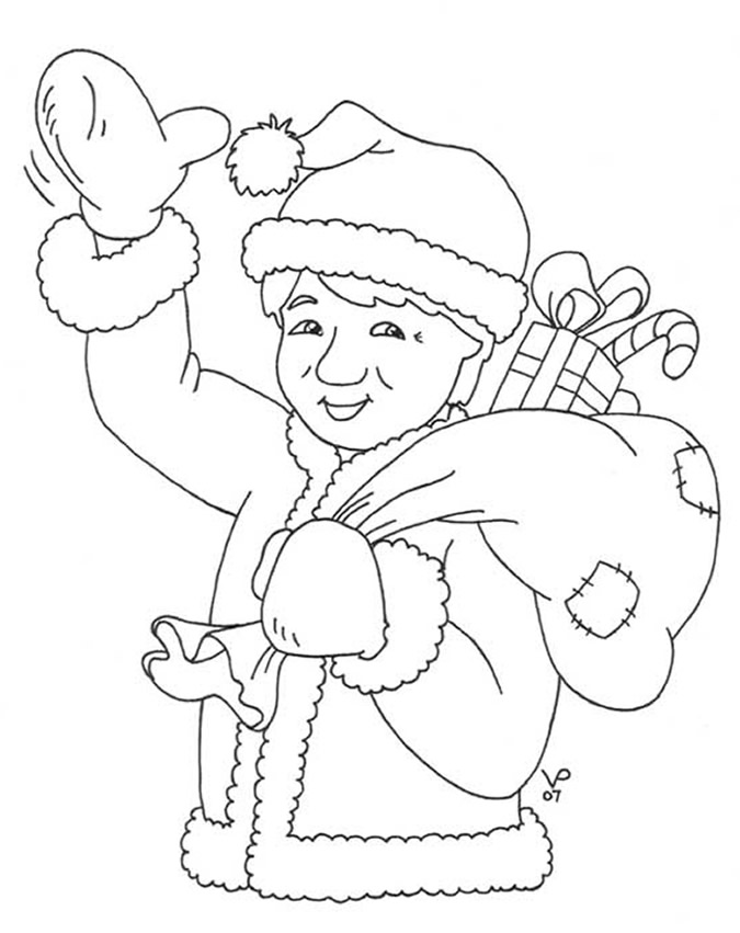 click santa jackie to print out and color your own project